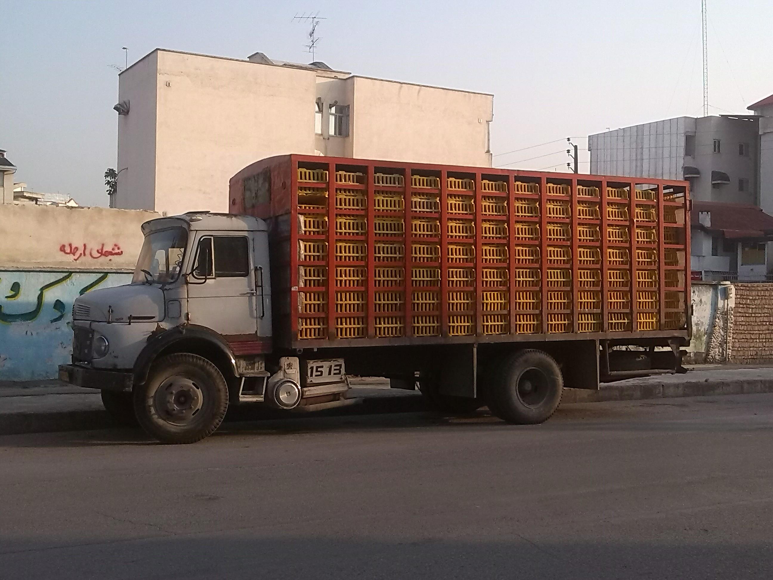 عکس ماشین سنگین بنز تک